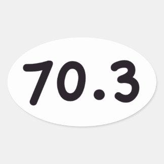 70.3 OVAL STICKER