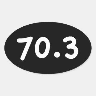 70,3 PEGATINA OVALADA