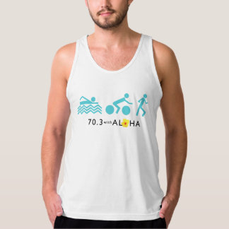 70.3 With Aloha Men's Fine Jersey - Light Tank Top