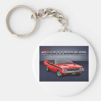 70-72 Challenger Basic Round Button Keychain