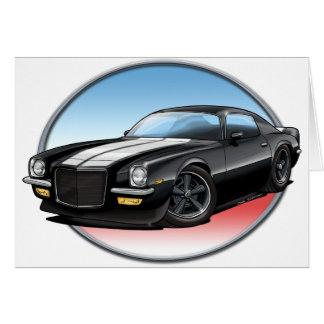 70-73 Black Camaro.png Greeting Card