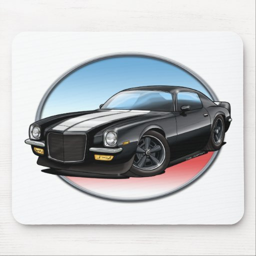 70-73 Black Camaro.png Mousepads
