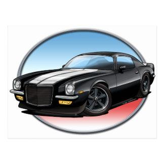 70-73 Black Camaro.png Post Card