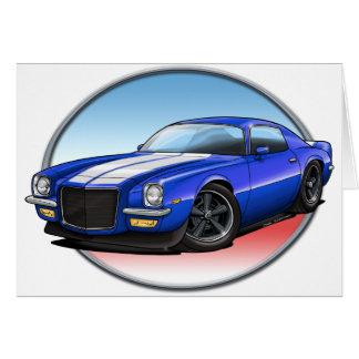 70-73 Blue W Camaro.png Greeting Cards