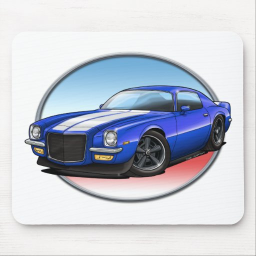 70-73 Blue W Camaro.png Mouse Pads