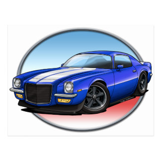 70-73 Blue W Camaro.png Post Cards
