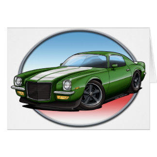 70-73 Green W Camaro.png Greeting Card