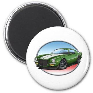 70-73 Green W Camaro.png 2 Inch Round Magnet