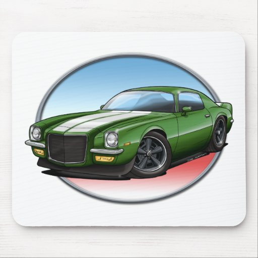 70-73 Green W Camaro.png Mouse Pads