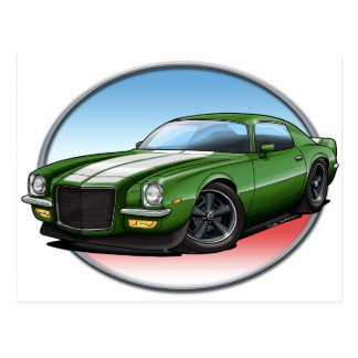70-73 Green W Camaro.png Post Cards