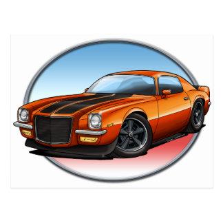 70-73 Orange B Camaro.png Post Cards