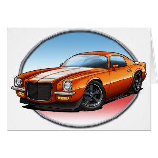 70-73 Orange W Camaro.png Greeting Card