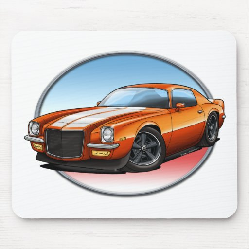 70-73 Orange W Camaro.png Mousepad