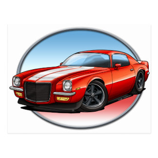 70-73 Red W Camaro.png Post Card