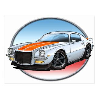 70-73 White O Camaro.png Post Card