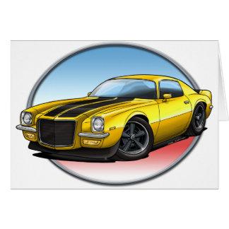 70-73 Yellow B Camaro.png Greeting Cards