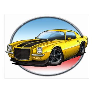 70-73 Yellow B Camaro.png Post Cards