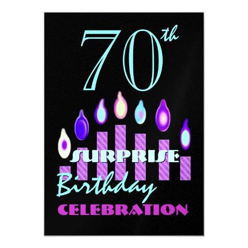70.a - 79.a invitación de la fiesta de cumpleaños