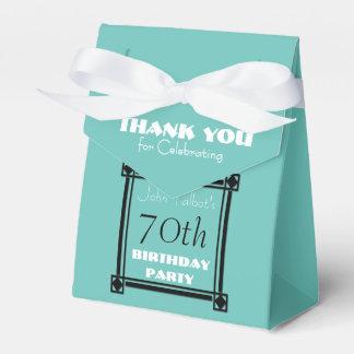70.a caja del favor de la fiesta de cumpleaños de cajas para regalos de fiestas