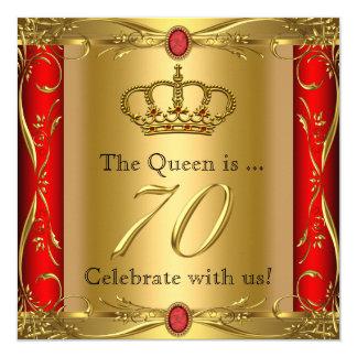 """70.a fiesta de cumpleaños de la reina o de rey invitación 5.25"""" x 5.25"""""""