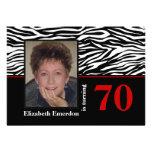 70.a foto del cumpleaños del estampado de zebra ro