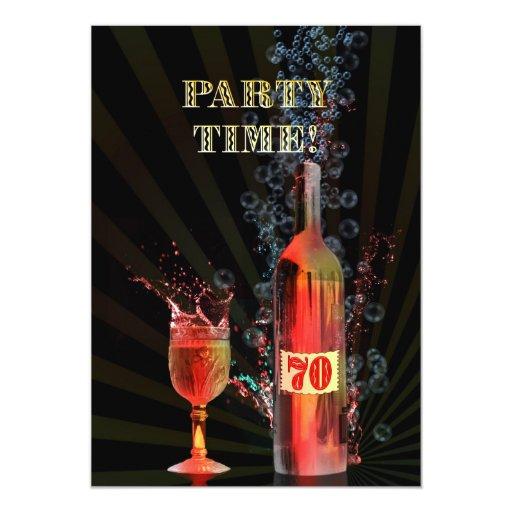70.a invitación de la fiesta de cumpleaños