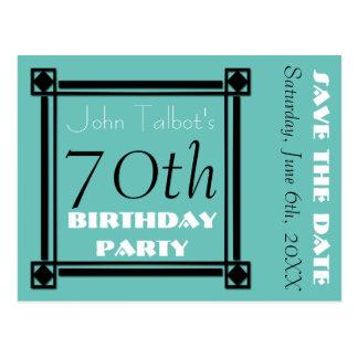 70.a reserva de la fiesta de cumpleaños del tarjetas postales