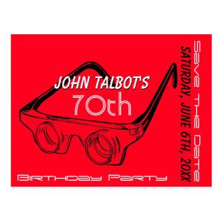 70.a reserva del cumpleaños de los vidrios 3D la Tarjetas Postales