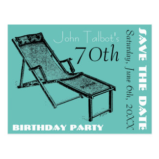 70.a reserva retra de la fiesta de cumpleaños de postales