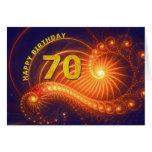 70.a tarjeta de cumpleaños