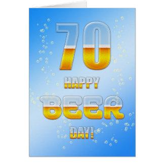 70 a tarjeta de cumpleaños del día feliz de la cer