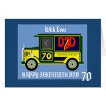 70.a tarjeta de cumpleaños del papá