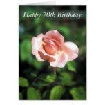 70.a tarjeta feliz de la flor del cumpleaños