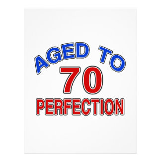 70 Aged To Perfection Letterhead