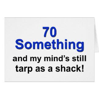 70 algo… tarjeta de felicitación