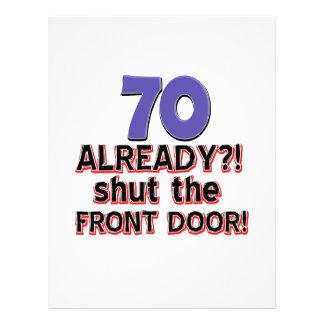 70 Already ?! Shut The Front Door ! Letterhead