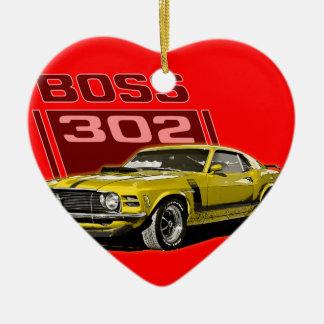 70 amarillo de Boss 302 Adorno Navideño De Cerámica En Forma De Corazón