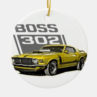 70 amarillo de Boss 302 Adorno Navideño Redondo De Cerámica