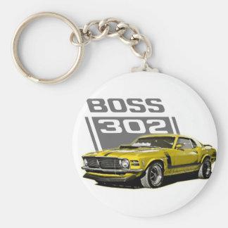 70 amarillo de Boss 302 Llaveros