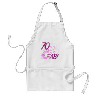 70 And Fabulous Birthday Adult Apron