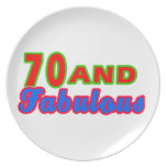70 and Fabulous Birthday Designs Party Plate