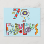 """70 and Fabulous Happy 70th Birthday Card<br><div class=""""desc"""">70 and Fabulous 70th Birthday Invitation.</div>"""