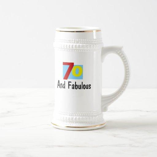 70 and Fabulous Mug