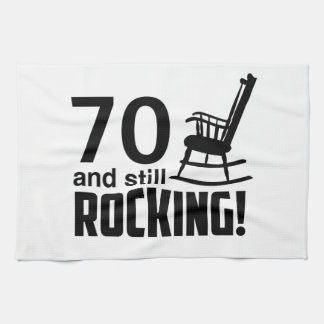 70 and Still Rocking! Hand Towels