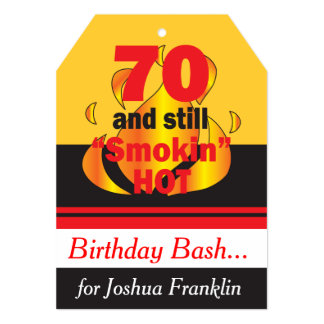 70 and Still Smokin Hot | 70th Birthday Card