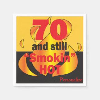 70 and Still Smokin Hot | 70th Birthday Paper Napkin