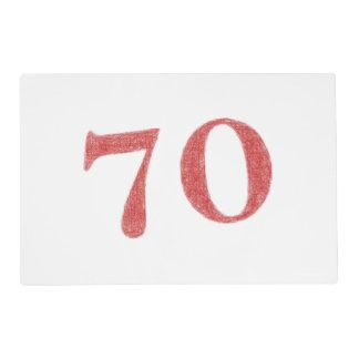 70 años de aniversario tapete individual