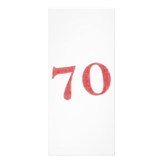 70 años de aniversario tarjeta publicitaria personalizada