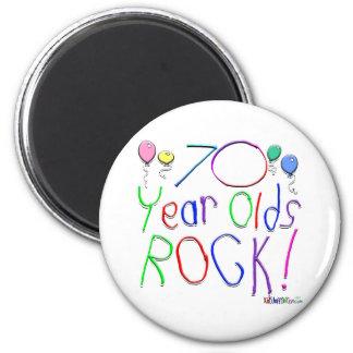 ¡70 años de la roca! iman de frigorífico