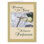 70 años de profesión religiosa para la monja Anniv Tarjeton